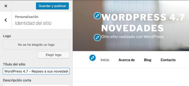 Acceso directos en el personalizador en WordPress 47