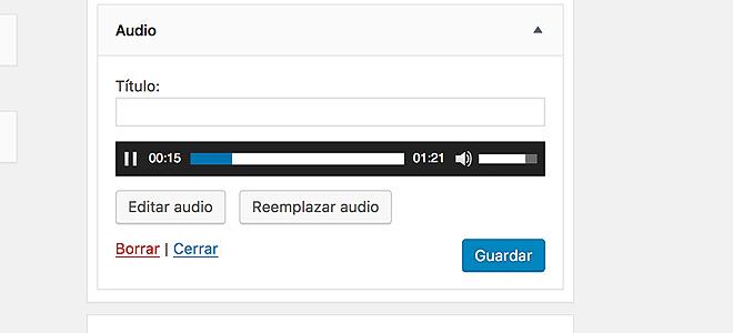 Widget de Audio en WordPress 4.8