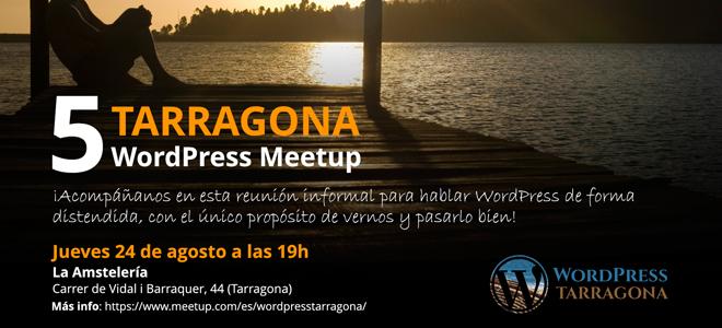 Cartel 5a WordPress Tarragona