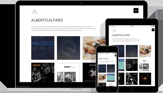Mockup de trabajo realizado a Alberto Alfaro