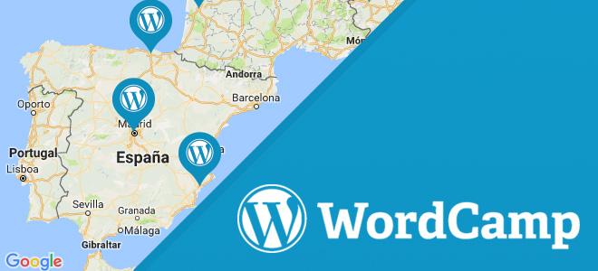 Próximas WordCamps en España durante este 2017