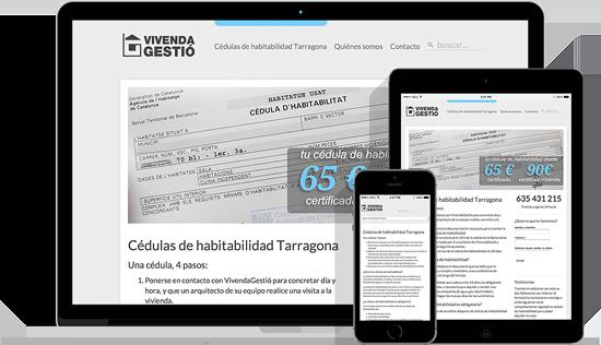 Mockup del proyecto Vivenda Gestió